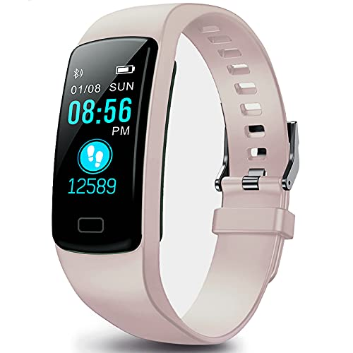Fitness Tracker, Heart Rate Monitor Activity Tracker Waterproof with Sleep Monitor, Health Exercise Fitness Watch Step Counter Pedometer Walking Calories Burned for Women Men Kids
