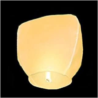 Alrens_DIY(TM) Set of 10 Large Sky Lanterns Chinese Traditional Wish Party Wedding Birthday Paper Lamps,Outdoor Flying Fire Wishing Lanterns (Yellow)