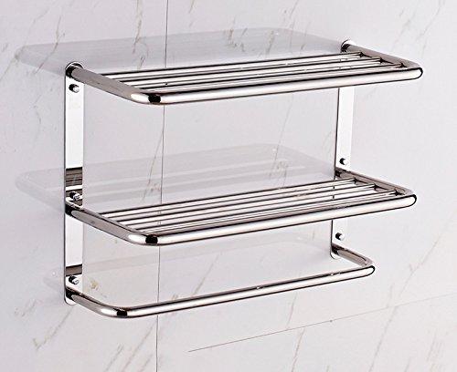 JIAHENGY El punzón Minimalista Gruesa de Acero Inoxidable 304 Doble baño baño Cocina Colgador de Metal de 40 cm. Toalleros de Barra Toalleros repisa Toalleros de Gancho