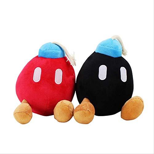 Therfk Super Mario Bros Plush Toy 15Cm, Bomb Red Red Soft Soft Stuffed Dolls Regalo para Niños Regalos