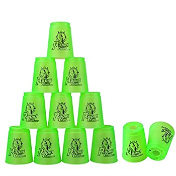Super Stacks Quick Stacks Cups Rapid Sport Stacking Cups Speed Training Set of 12  Green