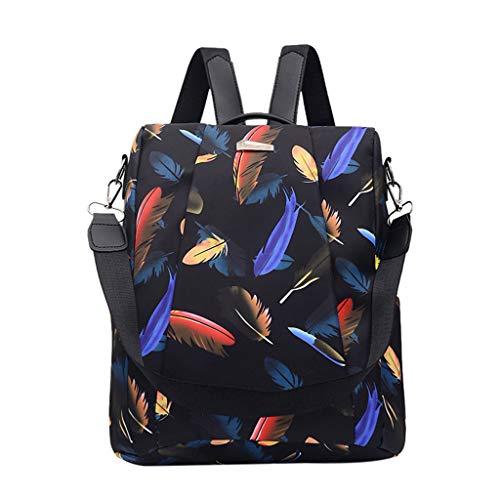 Zaino in Pelle, Borsa da Viaggio a Grande capacità, Borsa a Tracolla Lady Fashion Backpack Bag Travel Bag