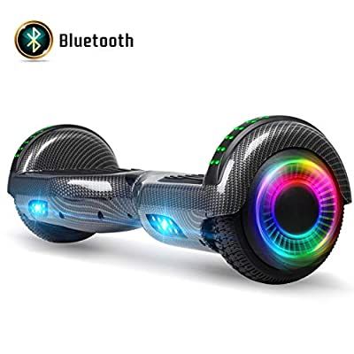FLYING-ANT Hoverboard for Kids, 6.5 Inch Two Wheels Self Blancing Hoverboard with Bluetooth Speaker and LED Lights-Carbon Black