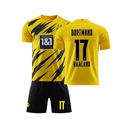 XMQW Camiseta de fútbol Deportes 2019-2020 Borussia Dortmund Haaland 17 para Verano Juegos de Entrenamiento,A,L