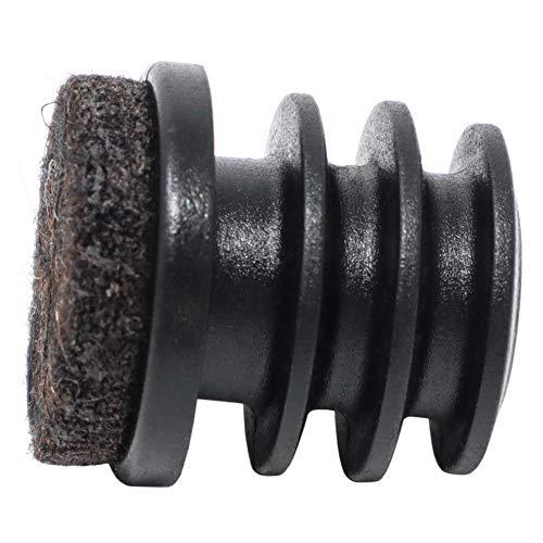 Adsamm® / 4 x Conteras entrantes con fieltro/ø 22 mm/interior ø 18-20 mm/negras/redondas/tapones deslizantes con fieltro para patas de tubo en primera calidad