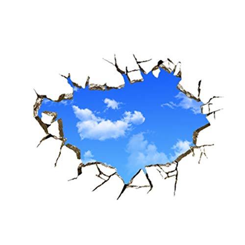 BXJJJK 50 * 70cm PVC Wandaufkleber Kreative Blue Sky 3D Stereo Decke Abziehbilder Abnehmbare Kunstdekoration für Wohnzimmer Schlafzimmer