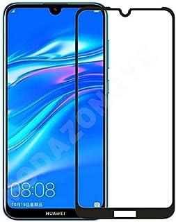 شاشة حماية زجاجية كاملة لهاتف هواوي واي 7 2019 (Y7 2019) - إطار اسود