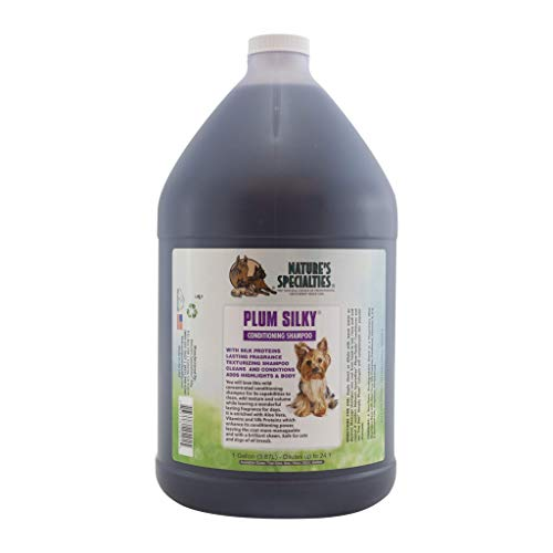 Nature's Specialties Plum Silky Pet Shampoo for Dogs and Cats, Professional Groomers, Concentrate, 1gal