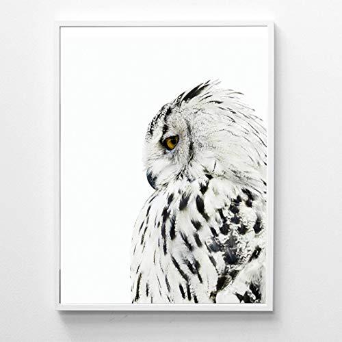 GUDOJK Dekorative Malerei Eule Poster Und Drucke Wandkunst Leinwand Malerei Wandbilder Für Wohnzimmer Nordic Eule Dekoration-40x60cm