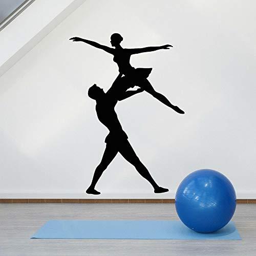 Tianpengyuanshuai muurtattoo, vinyl, ballet, theater, decoratie, muziek, dans, paar, ramen, zelfklevend