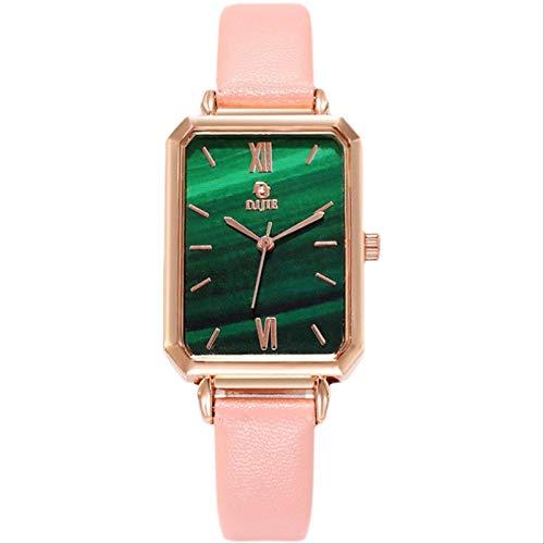 Miwaimao Británico Temperamento Simple Salvaje Retro Pequeño Reloj De Cinturón Cuadrado Pequeño Reloj Verde Vibrato Explosión Reloj De Cuarzo Impermeable