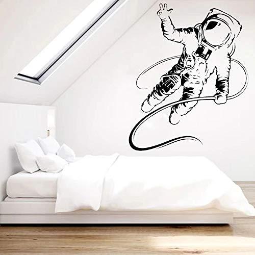 WERWN Pegatinas de Pared de Astronauta calcomanas de habitacin de nios y nias calcomanas de Astronauta Traje Espacial decoracin del hogar decoracin de la Pared del Dormitorio de los nios