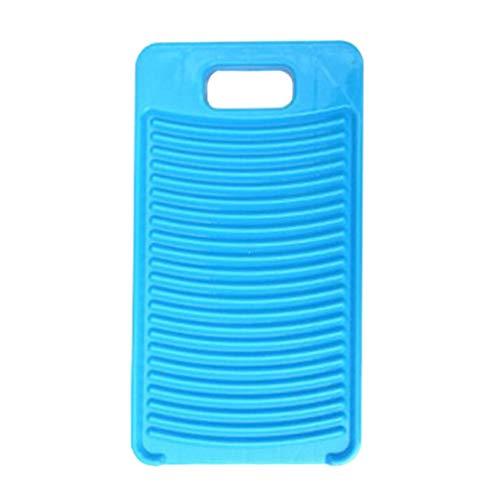 Hemoton Plástico Mini Ropa de Lavado Tabla de Lavar Tabla de Lavar Hogar Tabla de Lavar a Mano para Suministros de Lavandería en El Hogar Azul