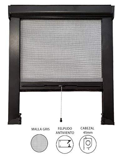 EB ESTORES BARATOS Mosquitera Enrollable A Medida/Mosquiteras para Ventanas y Puertas. con Malla Anti Insectos de Fibra de Vidrio Medida Ancho X Alto. Color: Negro. Medidas: 180cm x 160cm