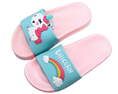 Kids Unicorn Summer Slides Sandals Non-Slip Lightweight Boys Girls Beach Water Shoes Pool Bath Slippers (Toddler/Little Kid) Blue unicorn31