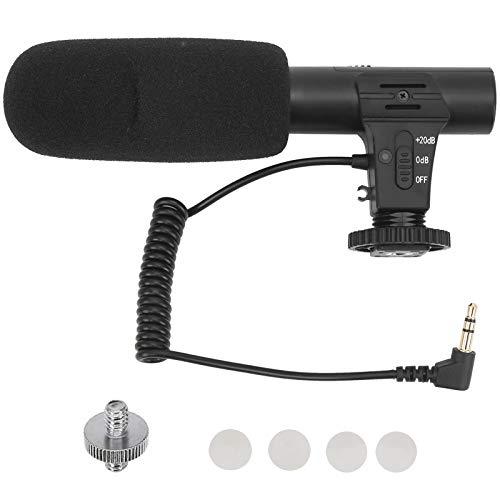 Condensador estéreo de micrófono de 3,5 mm, grabación de micrófono hipercardioide Apto para reuniones en línea/Clase/Llamada con Zoom/Chat de Skype/Plug & Play