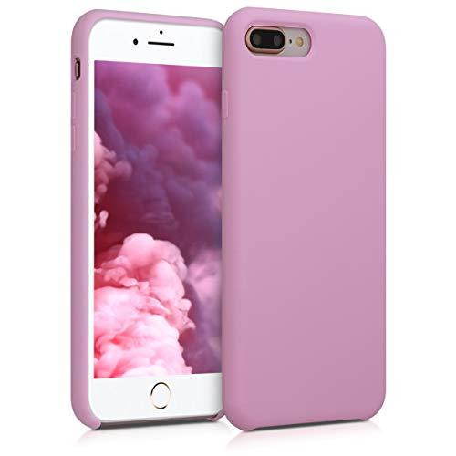 kwmobile Cover Compatibile con Apple iPhone 7 Plus / 8 Plus - Cover Custodia in Silicone TPU - Back Case Protezione Cellulare Malva