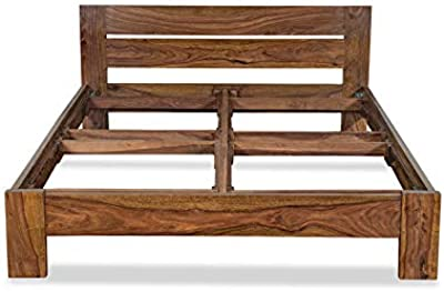 Ashoka Wooden Bed 6.5x5 feet & 6.5x6 feet Without Storage (Without Matress, 6.5x5 feet)