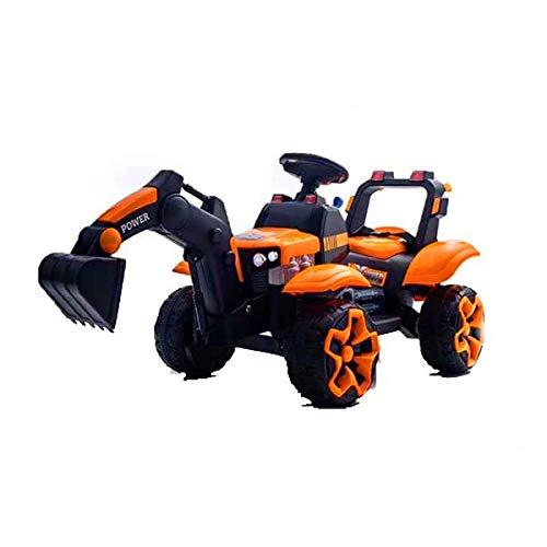 Kedorle Digger Scooter Tractor Toys Bulldozer Incluye Paseo en el Entrenamiento de Intereses del Tractor, Juguetes interactivos Excavadora de Juguetes de Juguete para niños de Juguete Tractor Tractor