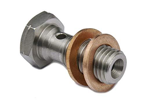PrecisionGeek Hohlschraube M10x1,25mm Edelstahl Bremssattel/Hauptzylinder L = 20mm