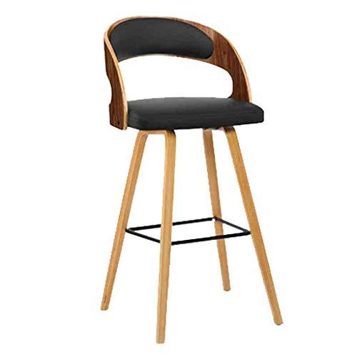 N/Z Tägliche Ausrüstung Hocker Barhocker Stuhlpaket Massivholzrahmen Halbrunde Rückenlehne Nordische Barhocker im modernen Stil Thekenstuhl Küchenfrühstücksbarhocker