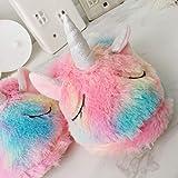 Zoom IMG-2 dressfan pantofole unicorno carino peluche