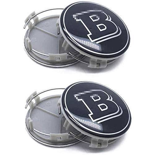 XIARUI 4 Stück Radnabenabdeckung, Logo Radkappe Emblem Abdeckung, für Brabus 75MM