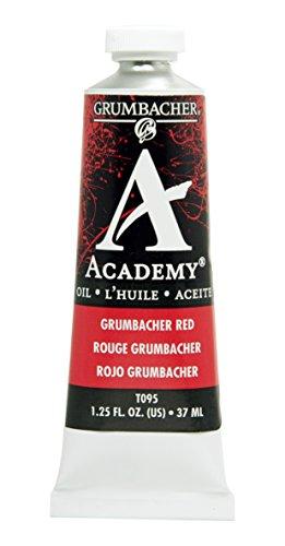 Grumbacher Academy Oil Paint, 37 ml/1.25 oz, Grumbacher Red