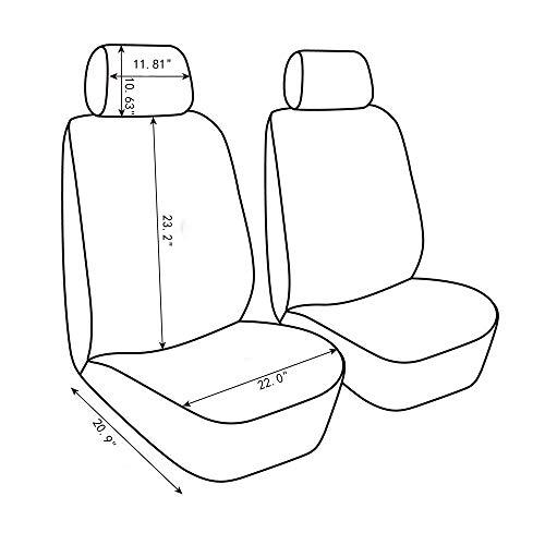 AUTOYOUTHタイヤトラック詳細シートカバー車インテリアアクセサリーユニバーサルフィット-4ピースグレー