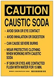 caustic soda sign