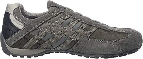 Geox Herren Uomo Snake F Sneaker, Grau (Stone/Rock C9m5y), 45 EU