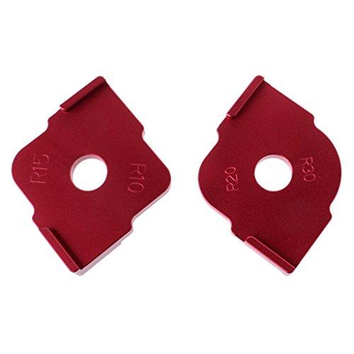 FXCO 2 Stück Holzplatte Router Tisch Bits Jig Corner Vorlagen Kit
