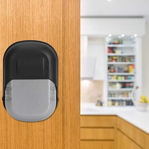 Herramienta de seguridad Caja de seguridad con llave Caja de seguridad con llave Seguridad hecha de aleación de aluminio Hogar conveniente para el hogar(Silver waterproof cover +1 yuan)
