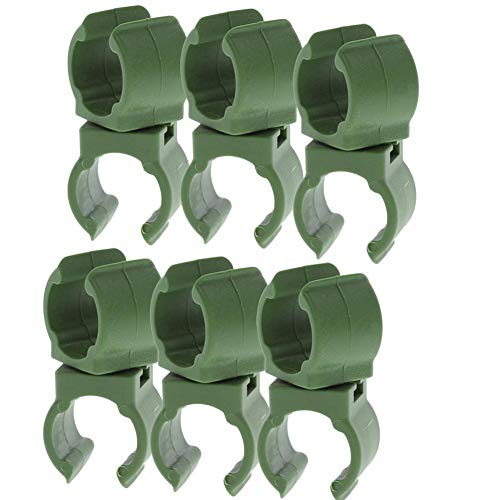 Rich-home 6Pcs Plant Stake Connectors Garden Trellis Plant Connector Snap Clamp Clip for Tomato Cage 16MM Plant Stakes