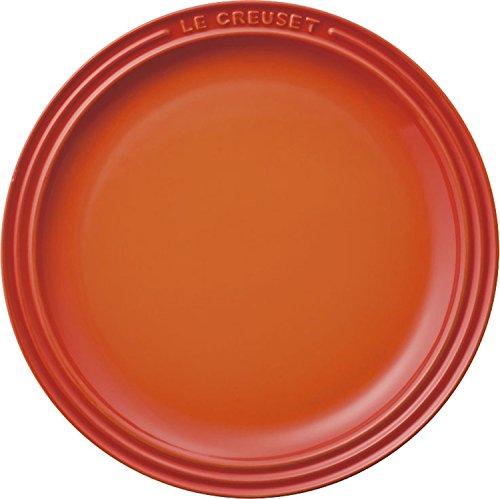 ル・クルーゼ(Le Creuset) 皿 ラウンド・プレート 23 cm オレンジ 耐熱 耐冷 電子レンジ オーブン 対応 【日本正規販売品】