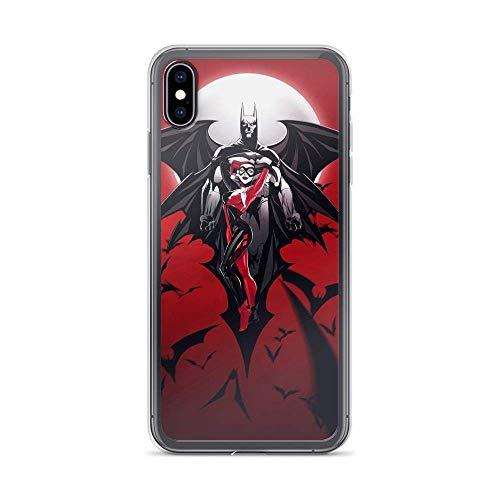 Roadiress Bat-Man Superhero Comic Harley-Quinn Joker Compatible con iPhone 12/12Pro MAX 12 Mini 11 Pro MAX XR XS/XsMax SE 2020 7 8 6/6s Plus Samsung Series Funda Protectora