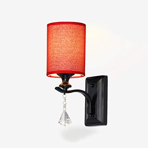 QQB Fashion-1 Applique Murale E14 * 1 (3-5W) -Fabric Living Room Chambre Couloir Mur Applique-20 * 33.5cm Modern (Color : A)