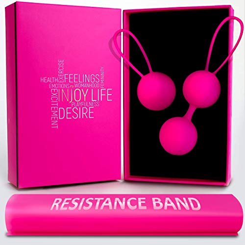 Kegel Balls Exercise Weights - Kegel Balls For Tightening And Pleasure Include Training Resistance...