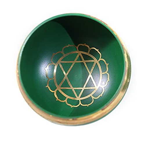 SAC d'épaule Tazón de Canto Tibetano, tazón de Chakra Hecho a Mano, Usado para meditación, Yoga, relajación, con cojín mazo,B