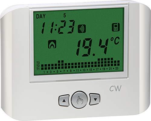VEMER VE787100 CW - Cronotermostato WiFi de Pared con alimentación de 230 V CA, Color Blanco,...