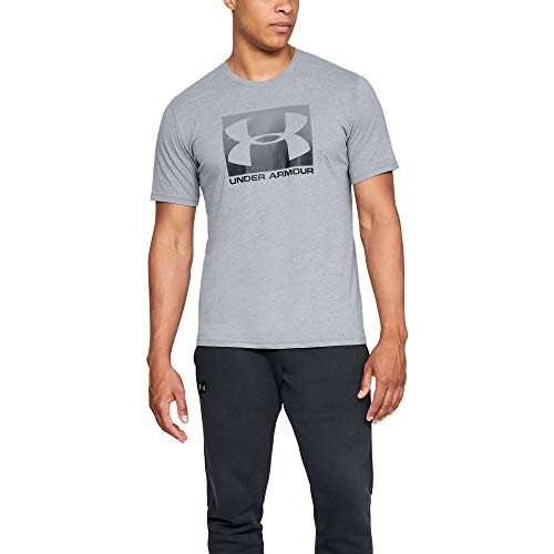 Under Armour Herren UA BOXED SPORTSTYLE Short Sleeve atmungsaktives Sportshirt, Grau (Steel Light Heather (035)/Black), X-Large