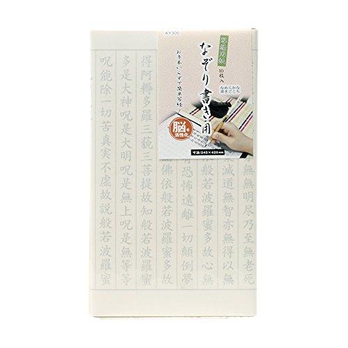 谷口松雄堂『写経用紙なぞり書き用10枚入(KY300)』