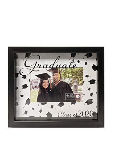 Haven Home DÃcor Class of 2020 Graduate Shadowbox Bilderrahmen, 10 x 15 cm, Schwarz