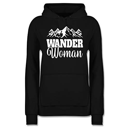Sonstige Sportarten - Wander Woman - weiß - M - Schwarz - Hobby - JH001F - Damen Hoodie und Kapuzenpullover für Frauen