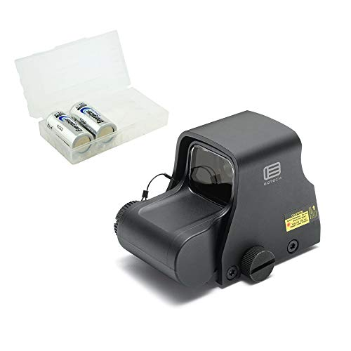 EOTECH XPS2-0 Holographic Red Dot Sight, Black Bundle with 2 CR123 Batteries and a Lightjunction Battery Box