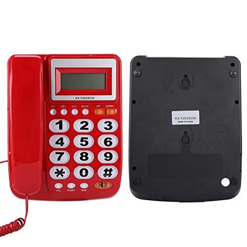 FOLOSAFENAR Teléfono con Cable con contestador automático Sonido Claro como una calculadora Juego de extensión Duradero Teléfono Fijo Botones Grandes con Cable, para Oficina en casa(Red)