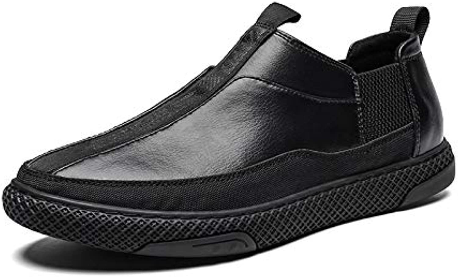 LOVDRAM Men's shoes New Men'S Low Top Layer Leather Casual shoes Non-Slip Lightweight Comfortable Fashion Sports shoes