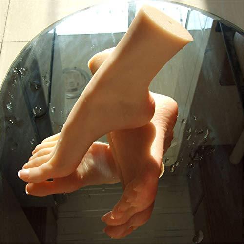 yunyu Silikon weiblicher Schaufensterpuppenfuß, lebensechte Schönheitsfüße 1: 1 weibliches Fußmodell, klare Textur Realistisches Fußmodell, für Schuh- / Nagelstützen 36A Schönheitsfuß