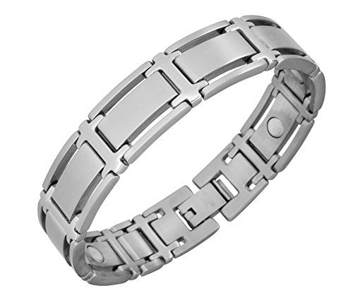 Energetix-Magnet joyas señora acero inoxidable-pulsera magnética 3342-2 talla M-XL