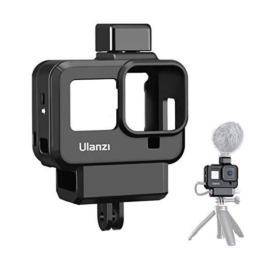 ULANZI GoPro HERO 8 Blcak専用ケージ 直接充電可能 2コールドシューマウント 52mmフィルターアダプター付き アクションカメラ Vlog アクセサリー